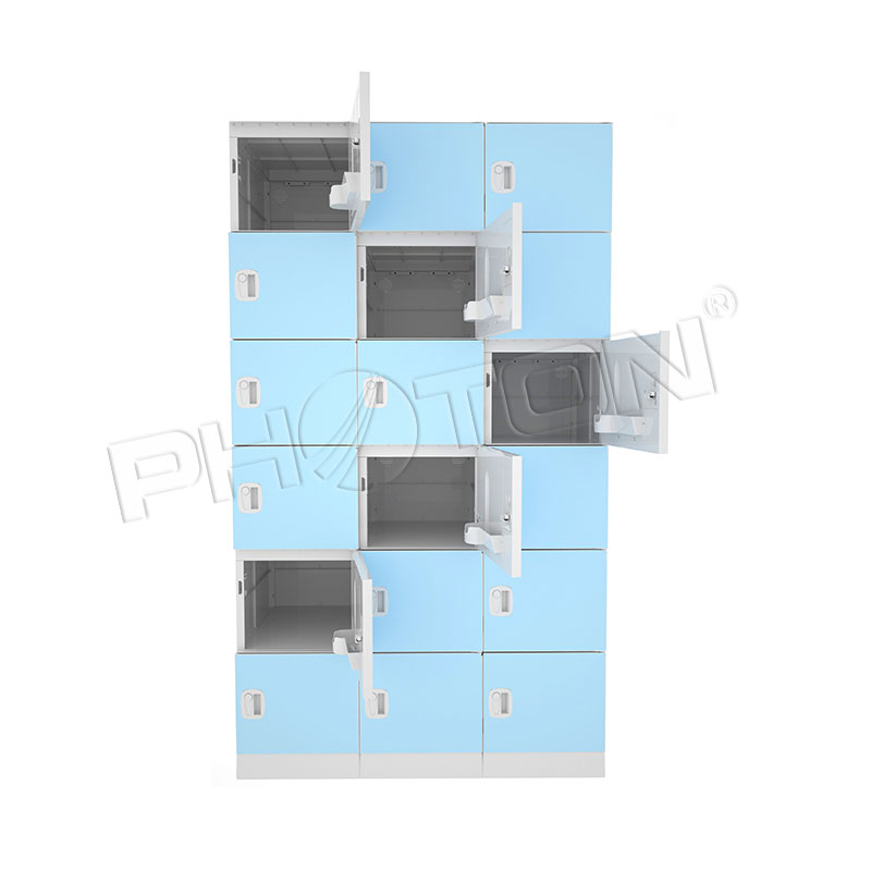 18 doors ABS plastic electronic smart gym school lockers